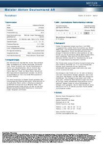 Metzler Aktien Deutschland AR