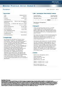 Metzler Premium Aktien Global C