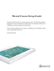 Meural Canvas Setup Guide