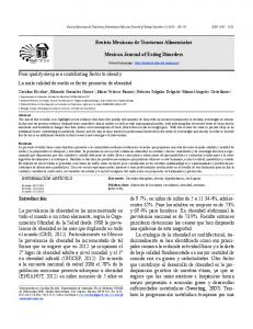Mexican Journal of Eating Disorders 4 (2013)
