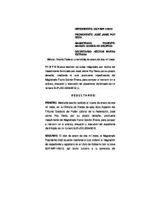 México, Distrito Federal, a veintitrés de enero de dos mil trece