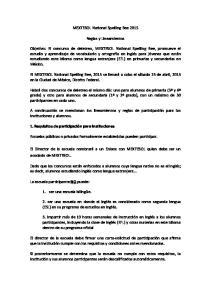 MEXTESOL National Spelling Bee Reglas y Lineamientos