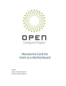 Mezzanine Card for Intel v2.0 Motherboard