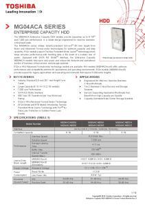 MG04ACA SERIES ENTERPRISE CAPACITY HDD