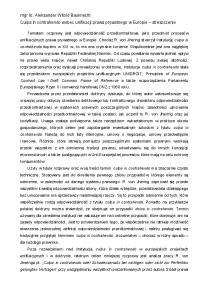 mgr lic. Aleksander Witold Bauknecht Culpa in contrahendo wobec unifikacji prawa prywatnego w Europie streszczenie