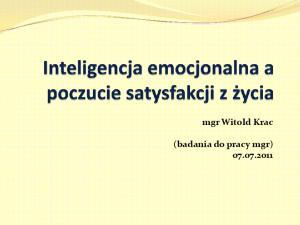 mgr Witold Krac (badania do pracy mgr)