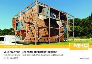 MHC ON-TOUR: HOLZBAU.ARCHITEKTUR.REISE