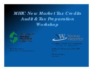 MHIC New Market Tax Credits Audit & Tax Preparation Workshop