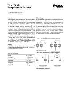 MHz Voltage Controlled Oscillators
