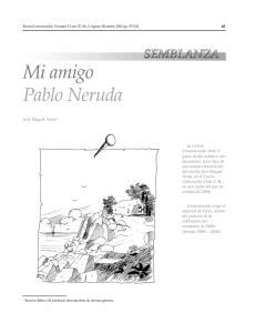 Mi amigo Pablo Neruda