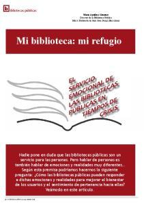 Mi biblioteca: mi refugio