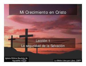 Mi Crecimiento en Cristo