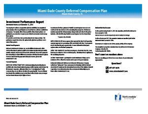 Miami-Dade County Deferred Compensation Plan