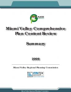 Miami Valley Comprehensive Plan Content Review. Summary
