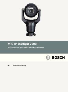MIC IP starlight 7000i MIC-7502-Z30B MIC-7502-Z30W MIC-7502-Z30G