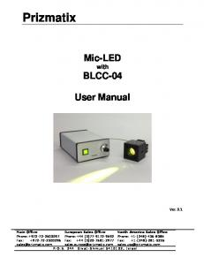 Mic-LED with BLCC-04. User Manual