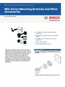MIC Series Mounting Brackets and Other Accessories