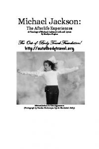Michael Jackson: The Afterlife Experiences. A Theology of Michael Jackson's Life and Lyrics By Marilynn Hughes
