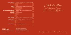 Michala Petri. 50 th Birthday Concert Kremerata Baltica. Live recording. Tivoli Garden Concert Hall. OUR Recordings