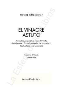 MICHEL DROULHIOLE EL VINAGRE ASTUTO