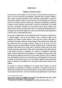 MICHEL FOUCAULT PREFACIO A LAS PALABRAS Y LAS COSAS