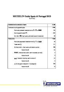 MICHELIN Guide Spain & Portugal 2013