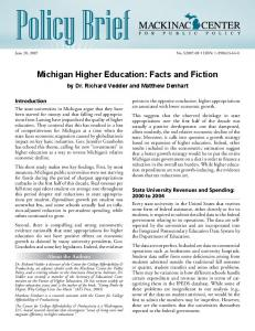 Michigan Higher Education: Facts and Fiction