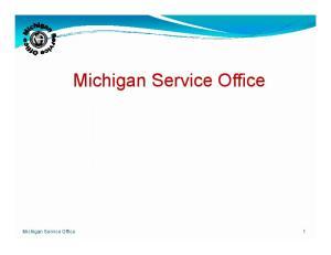 Michigan Service Office. Michigan Service Office 1
