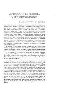 MICHOACAN: LA HISTORIA Y SUS INSTRUMENTOS