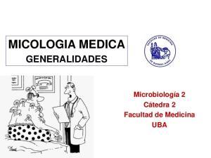MICOLOGIA MEDICA GENERALIDADES