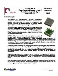 Micro-Amp Magnetic Gyro Specifications