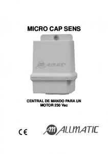 MICRO CAP SENS. CENTRAL DE MANDO PARA UN MOTOR 230 Vac
