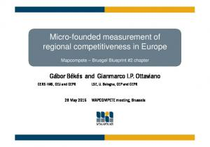 Micro-founded measurement of regional competitiveness in Europe