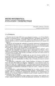 MICRO INFORMATICA: EVOLUCION Y PERSPECTIVAS