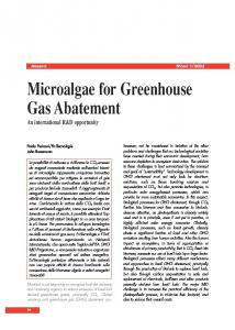 Microalgae for Greenhouse Gas Abatement