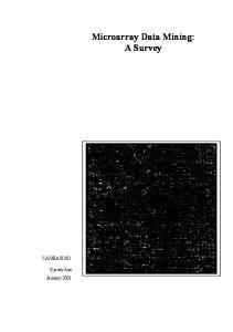 Microarray Data Mining: A Survey