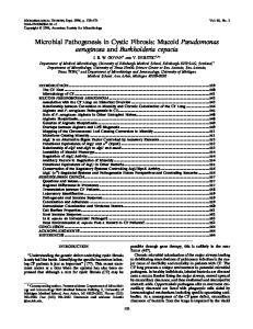 Microbial Pathogenesis in Cystic Fibrosis: Mucoid Pseudomonas aeruginosa and Burkholderia cepacia