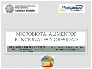 MICROBIOTA, ALIMENTOS FUNCIONALES Y OBESIDAD
