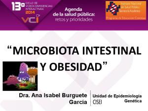 MICROBIOTA INTESTINAL Y OBESIDAD