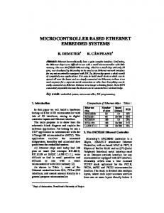 MICROCONTROLLER BASED ETHERNET EMBEDDED SYSTEMS