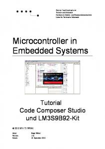 Microcontroller in Embedded Systems