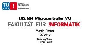 Microcontroller VU