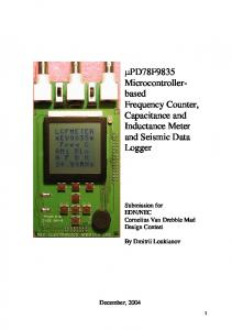 Microcontrollerbased. Frequency Counter, Capacitance and Inductance Meter and Seismic Data Logger