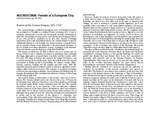 MICROCOSM: Portrait of a European City