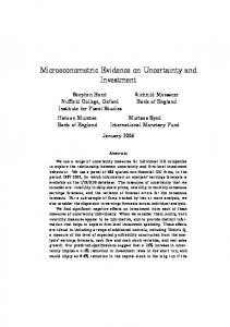 Microeconometric Evidence on Uncertainty and Investment