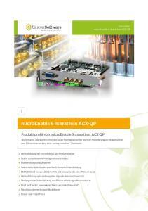 microenable 5 marathon ACX-QP Produktprofil von microenable 5 marathon ACX-QP Datenblatt microenable 5 marathon ACX-QP