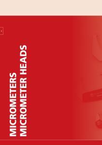 MICROMETER HEADS MICROMETERS B-1