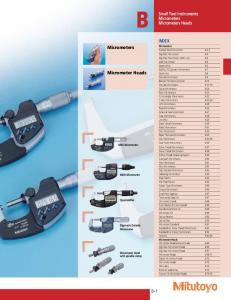 Micrometers. Micrometer Heads
