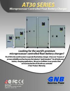 Microprocessor Controlled Float Battery Charger
