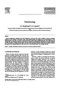 Microrheology. F.C. MacKintosh a,, C.F. Schmidt b. 1. Introduction and background